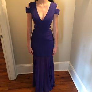 BCBG rich purple gown